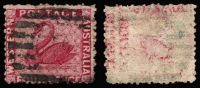Lot 1000:1864-79 Wmk Crown/CC (Sideways) Perf 12½ 4d carmine with good Offset. Unusual.