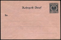 Lot 1859 [1 of 8]:Rohrpost: pristine unused selection with [1] Envelopes 1893 30pf, 1902 30pf, 1903 30pf, 1912 30pf, 1921 225pf & 1923 100pf; [2] Postal Card 1920 50pf uprated with 4M Germania x2. (8)