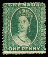Lot 1150:1861-62 No Wmk 1d bluish green, SG #1, MNG, small pulled perf at right, Cat £4,500.
