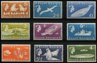 Lot 1452 [2 of 3]:1963-69 Flora & Fauna SG #1-15, set to £1 ultramarine, Cat £190. (15)