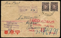 Lot 355 [2 of 5]:Field Post Offices 1943-45 annotated collection of postmarks on cover with examples from 148, 149, 150, 152, 153, 154, 156, 157, 160, 161, 162, 164, 164, 166, 167, 168, 170, 174, 180, 186 & 189. A very good range. (32)