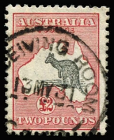 Lot 2033:£2 Grey & Rose-Crimson BW #57, nice central cds, with good perfs and centring, Cat $1,200.
