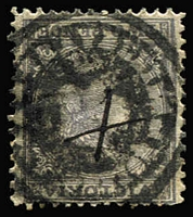 Lot 1152:'TRAVELLING POST OFFICE' crown seal (B2) on 1865 2d dull lilac Laureate. [Not Recorded in handbook. Very rare]