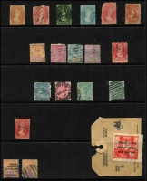 Lot 296 [2 of 6]:Mainly Used Accumulation from all states incl revenues like Tas 1953 9d Diesel with black ovpt & 1/6d Diesel pair with red ovpt both on part tags, a few Vic pmks incl MO&SB Wangaratta, noted a FU 3d Half-length P12 (missing corner). (100s)