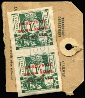 Lot 296 [1 of 6]:Mainly Used Accumulation from all states incl revenues like Tas 1953 9d Diesel with black ovpt & 1/6d Diesel pair with red ovpt both on part tags, a few Vic pmks incl MO&SB Wangaratta, noted a FU 3d Half-length P12 (missing corner). (100s)