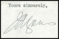 Lot 465:1938 Signed Letter From Prime Minister Joseph Lyons and His Reply: to David Dow expressing his appreciation for his service in New York.