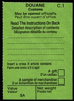Lot 962 [1 of 7]:Douane (Customs Declaration) Labels: collection in large folder with many different types and forms many as mint mutiples, many types and styles. A wonderful addition to anyone collecting PO forms, or Customs forms. (many 100s)