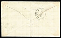 Lot 898 [2 of 2]:1930 Camooweal-Daly Waters (Feb 19) Australian Aerial Services Sheard cover (lightly creased), stamps cancelled at Brisbane, backstamped Daly Waters/N.T. (Feb 20), AAMC #151, Cat $300.