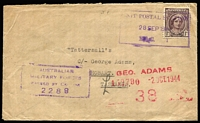 Lot 357 [1 of 6]:New South Wales Field POs selection including Broadmeadow, Casino, Kenmore, Liverpool, Parramatta, Robertson, Singleton, Tamworth, Wallgrove, also a few unidentified and RAAF Richmond registered cover, mostly at 1d Concessional rate, a few Stationery Envelopes, some duplication, typical mixed condition for this type of material, generally good, allocation details lightly penciled reverse. (c32)