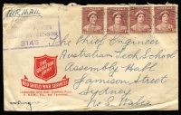 Lot 825 [2 of 12]:Northern Territory Field POs collection including Rear HQ NT Force, 66½ Mile, Adelaide River, Alice Springs, Batchelor (mostly Air Force - one registered), Birdum, Coomalie Creek, Daly Waters, Darwin, Fenton, Gorrie, Katherine, Larrimah, Mataranka, Melville Bay, Noonamah, Sattler, and Winnellie, allocation details lightly penciled reverse, wide range of Censor markings including RAAF, amongst which is little if any duplication, odd fault, generally good average quality, very useful group. (130)