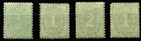 Lot 822 [2 of 2]:1907 Design Completed Wmk Crown/Double Lined A ½d to 6d complete set, BW #D56-60, Cat $1,400+. (5)