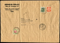 Lot 625:1936 Inwards cover from Germany to Melbourne with triple-circle 'CUSTOMS