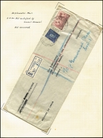 Lot 886 [2 of 7]:1940-41 Czech Consular Mail mainly from Sydney to the Czech Government in Exile in London. Mostly airmail and registered, many certified official and therefore stamped 'NOT OPENED' by the censor. An unusual group and rarely offered. (10)