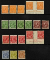 Lot 669 [2 of 2]:½d To 1/4d group, with extra ½d x4, 1d x3 (one Wmk inverted), 1½d & 2d x4. 4d has Top of crown broken. (20)