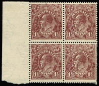 Lot 277 [2 of 4]:1½d Brown Die I Electro 3 [1] block of 12 [3L19-30] units 22 & 26 catalogued varieties, 2 units hinged; [2] block of 12 [3L27-39,43-45,49-52,55-57] unit 49 catalogued variety, creasing on 5 units, MUH; [3] block of 4 [3L31-32,37-38] unit 31 catalogued variety 2 units hinged; [4] block of 10 [3R50-54,56-60], 3 units creased, MUH. (4 blks)