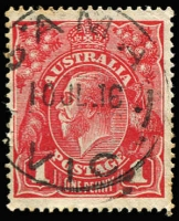 Lot 593 [1 of 5]:1d Red stock book with nearly 200 Inverted wmk, mostly smooth paper with just a few perf 'OS', appears unchecked for shades and few if any faults. A quick glance noted a few minor varieties and the the odd useful pmk. Excellent value at extimate. (198)
