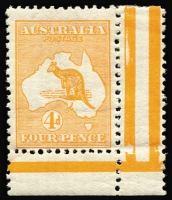 Lot 511:4d Orange 4d orange, BW #15, superb marginal example, Cat $650++.