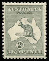 Lot 534:2d Grey Die I Wmk inverted, BW #7a, attractive well-centred stamp, MUH, Cat $400.
