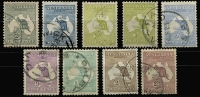 Lot 532 [2 of 2]:Set To 5/- nice group with 3d Die I & II & 2/- both shades, ex 6d chestnut. (10)