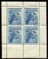 Lot 678:1928 3d Kookaburra Miniature Sheet BW #133, Cat $175.