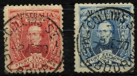 Lot 679 [2 of 2]:1930 Sturt pair plus 3d blue Kooka single from MS all with correct FDI cancels from Collins St. (3)
