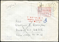 Lot 438 [3 of 5]:1960s-1970s Covers from East or West Germany which have been refused for various reasons, such as banned stamps, political stickers etc. An interesting lot. (32)