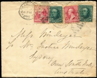 Lot 774 [1 of 6]:1890-1901 group of US postal stationery items and a covers, all addressed to Miss LA Windeyer from her sister Margaret Windeyer, who was the first female Exhibition Commissioner, representing New South Wales at the 1893 Columbian Exhibition. (6)