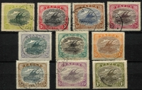Lot 1234 [3 of 3]:1916-31 Bicolours ½d to 10/- set SG #93-105 including 1½d 'POSTACE' variety, Cat £340+. (13)