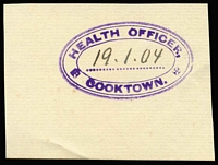 Lot 993 [2 of 15]:Queensland Custom Houses: collection with additional photos and illustrations, few postmarks and covers Includes Brisbane, Bundaberg, Burketown, Cooktown, Mackay, Maryborough, Mungindi & Townsville. Noted nice 1904 Health Office Cooktown handstamp. (c.45 items)