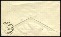 Lot 1209 [2 of 2]:245 Mile Siding: violet boxed 'POSTED AT 245 MILE' on face of cover to Adelaide, 2d red KGV cancelled with 'POSTED IN LATE[ FEE BAG]