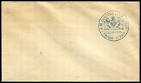 Lot 553 [1 of 2]:Customs Launceston: on unused envelope, plus used piece. (2)