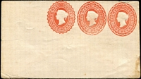Lot 346 [2 of 9]:Envelopes: ½d+1d+1d x3 different, ½d+½d, 1d x3 different; Wrappers 1d x2 different. All unused. (9)