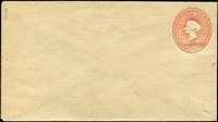 Lot 346 [3 of 9]:Envelopes: ½d+1d+1d x3 different, ½d+½d, 1d x3 different; Wrappers 1d x2 different. All unused. (9)