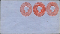 Lot 346 [1 of 9]:Envelopes: ½d+1d+1d x3 different, ½d+½d, 1d x3 different; Wrappers 1d x2 different. All unused. (9)