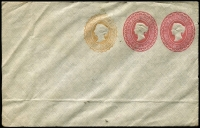 Lot 394 [3 of 9]:Envelopes: ½d+1d+1d x3 different, ½d+½d, 1d x3 different; Wrappers 1d x2 different. All unused. (9)