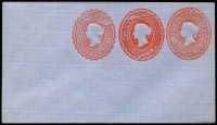 Lot 394 [1 of 9]:Envelopes: ½d+1d+1d x3 different, ½d+½d, 1d x3 different; Wrappers 1d x2 different. All unused. (9)
