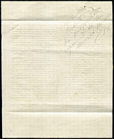 Lot 1235 [3 of 3]:1846 Note From Superintendent Latrobe: to the Magistrates at Alberton, signed C.J.Latrobe, with a printed attachment of Rewards for the discovery of illicit distillation with pencilled note on reversed signed C.J.L.