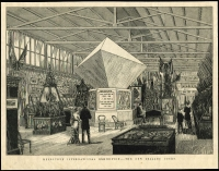 Lot 1238 [3 of 3]:1880 Melbourne International Exhibition: group of large newspaper illustrations showing the courts of Straits Settlements, Western Australia, New Zealand, Fiji & India, also The First arrival of goods and The Red Cross Preserving Company's Trophy. (7)