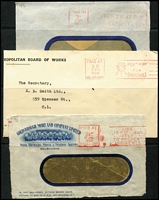Lot 367 [3 of 3]:Melbourne: Paid Machine Cancellations Collection, mainly on cover, from 1917 Krags onwards. No duplication. (30+ covers + 18 pieces)