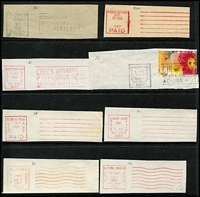 Lot 369 [2 of 3]:Paid Machine Cancellation Collection: on Hagners, mainly on piece, from 1940s to 1990s. Minor duplication. (450+)
