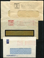Lot 369 [1 of 3]:Paid Machine Cancellation Collection: on Hagners, mainly on piece, from 1940s to 1990s. Minor duplication. (450+)
