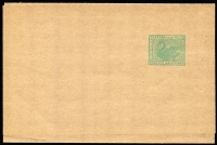Lot 1340:1910 Wide Wrapper Without Borders ½d green POSTACE flaw 130x288mm, PSSA #WR5.1 (var), Cat $500+, fresh mint. A similar item realised $405 in auction 54.