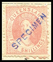Lot 921 [1 of 4]:UPU Distribution - Qld on Lichtenstein pages generally stuck to page with top third of gum, with Small Chalons 1d, 2d, 3d, 4d, 6d, 1/-brown, 1/- grey, 5/- rose & (6d) Registered all Type 1; Second Sideface 1d, 2d, 4d, 6d & 1/- Type 1, and 2/- pale brown mint; Large Chalons 2/- Type 1, 2/6d to £1 mint; 1890 Issues ½d, 2½d carmine & 3d brown mint; 1895 Issues Void Ovals ½d, 1d, 2d & 5d all mint; 1896 Issues Figures in 2 Corners 1d mint; 1897 Issues Figures in 4 Corners 1d, 6d & 6d all mint; 1898-99 Issues Figures in 4 Corners ½d (both types), 1d black roulettes, 1d uncoloured roulettes, 2½d rose, 2½d purple/blue, 3d, 4d, 5d, 6d & 1/- all mint; 1902 Issues 2/- turquoise mint; 1903 Issues 9d Commonwealth mint. (44)