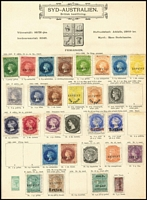 Lot 922 [2 of 2]:UPU Distribution - SA on Lichtenstein pages generally stuck to page with top third of gum, with Chalons imperf/roulette 1d green, 1d yellow-green, 2d rose, 2d orange, 6d dark blue, 6d pale blue, 6d violet, 1/- brown, 1/- yellow & 1/- red-brown, plus perf 6d blue & 1/- red-brown all 'REPRINT' ovpt; PB New Designs imperf/roulette 9d grey, 10d on 9d yellow & 10d on 9d red-orange, perf red 3d on 4d blue, black 3d on 4d blue, 4d deep lilac, 4d purple, 8d on 9d brown, 9d lilac & 2/- carmine all 'REPRINT' ovp; DLR Issues ½d on 1d (red 'REPRINT'), ½d brown bantam, 1d & 2d all 'REPRINT' ovp, plus ½d green Bantam imperf unoverprinted proof. (27)