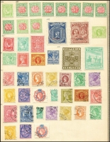 Lot 925 [2 of 6]:UPU Distribution - Vic on Lichtenstein pages generally stuck to page with top third of gum, with 'Reprint' Ovpt 1/- Octagonal, 1/- Laureate, 5/- Laureate, ½d carmine Bantam, 2d lilac Naish, 1d brown & 1d green Stamp Duty; 1885 Issues ½d, 1d, 3d, 4d, 6d & 8d all mint; 1886 Issues 2d mauve, 1/- blue/yellow, 1d & 6d New Designs all mint; 1887 Issues ½d rose, 2d, 4d, 1/- x2 (shades) & 2/- green/green all mint; 1890 Issues 1d brown 1/6d blue & 1/6d orange all mint; 1891 Issues 1d brown/pink, 2½d red-brown/lemon all mint; Postal Fiscals 2/6d yellow, 3/- drab, 4/- orange-red, 5/- claret/yellow all mint, 6/- 10/- 15/- & £1 all CTO; 1892 Issue. 9d green mint; 1895 Issues 1½d green, 9d rosine, 2/- blue-green & 5/- rosine all mint; 1897 Issues Charity pair Type 22; 1897 Issues ½d green, 1d red, 1½d red-brown/yellow & 2½d blue all mint; 1900 Issues Boer War pair mint; Later No POSTAGE issues ½d, 1d olive, 2d, 3d, 4d, 1/-, 2/- & 5/- all CTO; POSTAGE Issues ½d, 1d, 1½d, 2d, 2½d, 3d, 4d, 5d, 6d, 9d, 1/-, 2/-, 5/- £1 & £2 all CTO; Postage Dues ½d to 5/- brown & blue ex 3d, ½d to 5/- red & green all mint. (94)