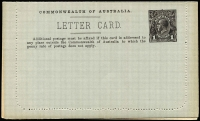 Lot 788 [3 of 4]:1914-18 1d KGV Die 1 Sideface on grey P10 x2, BW #LC17 sepia - River Derwent & purple-brown - North Terrace (2)