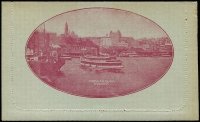 Lot 789 [2 of 10]:1914-18 1d KGV Die 1 Sideface on grey P12½ x5, BW #LC18 unused deep blue - Picadilly, magenta? - Circular Quay with sky, blue - Coal Mine, grey-black - Mt Ida and sepia Mt Ida. (5)