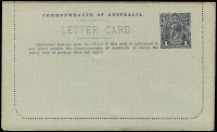 Lot 577 [3 of 10]:1914-18 1d KGV Die 1 Sideface on grey P12½ x5, BW #LC18 unused black - City Court, deep grey-blue - City Court, deep grey-green - Flinders St, blue - River Murray & deep purple - Rundle St. with frame. (5)