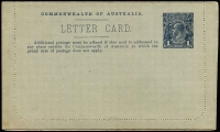 Lot 796 [1 of 2]:1914-18 1d KGV Die 2 Sideface blue-black on grey P12½ 'MT. BUFFALO VICTORIA', BW #LC22(80 ) unused.