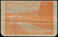 Lot 887 [2 of 2]:1920-22 2d Orange KGV Sideface on grey surfaced card P12½, view 'BURRINJUCK DAM...SETTLER'S HOME LEETON' BW #LC48(26), from Maryborough, Vic addressed to Mr Abikhair draper Albury New South Wales/GPO Albury please deliver to Mr Abikhair opposite side of street to Police Station. Message is about purchasing handkerchiefs and studs. Spike hole and couple of creases.